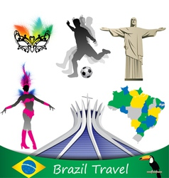 brazil travel vector image vector image