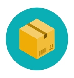 Cardboard box for packaging vector image vector image