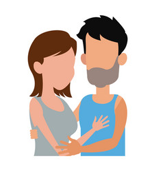 embracing couple relationship together image vector image vector image