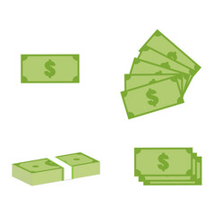 set money icon on white background money sign vector image