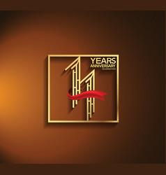 11 years anniversary logotype golden color vector