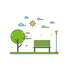 a beautiful park vector image