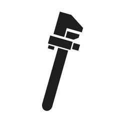 Adjustable wrench repair tool plumbing instrument vector