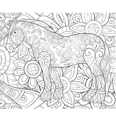 adult coloring bookpage a cute unicorn on the vector image