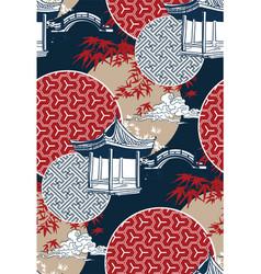 alcove bridge maple circles japanese chinese vector image
