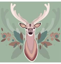 Background with deer vector