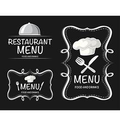 Banner design with restaurant menu vector