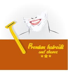 barbershop logo design vector image