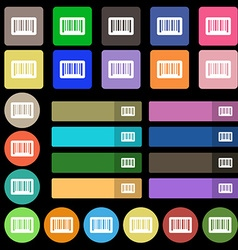 barcode icon sign Set from twenty seven vector image