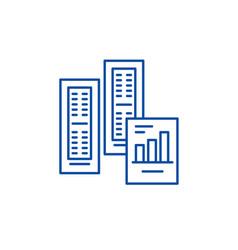big data reports line icon concept big data vector image