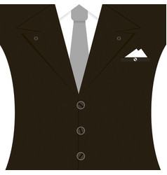 black man suit with tie and white vector image