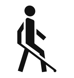 blind man icon simple style vector image