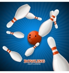 Bowling Concept vector