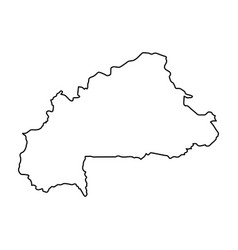 burkina faso map of black contour curves on white vector image vector image