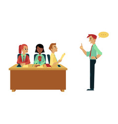 business briefing meeting or conference vector image
