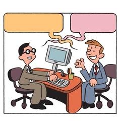 Business conversation vector