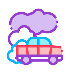 Car co2 carbonic oxide air thin line icon vector