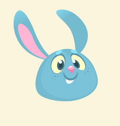 cartoon bunny rabbit head icon vector image