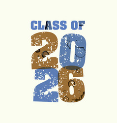 Class of 2026 concept stamped word art vector