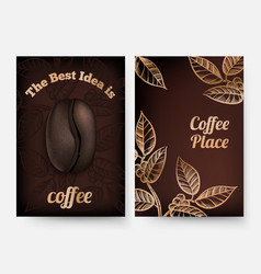 Coffee flyers coffee time background vector