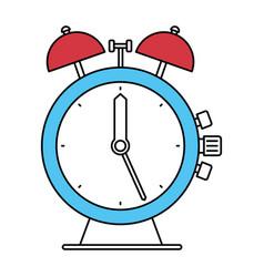 color sectors silhouette of antique alarm clock vector image
