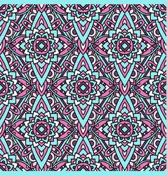Colorful tribal native pattern outline style vector