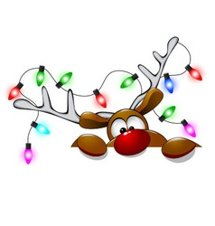 Cute Christmas reindeer Rudolph 1 vector