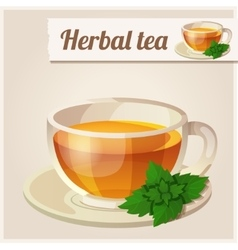 Detailed Icon Mint tea vector