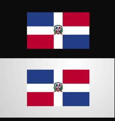 Dominican republic flag banner design vector