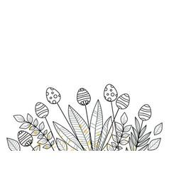 easter background floral decoration vector image