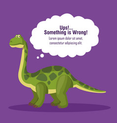Error 404 dinosaur theme vector