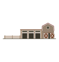 Farm garage isolated image flat building vector