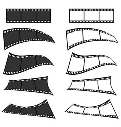 film tape set in two colors vector image