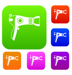 hairdryer set collection vector image