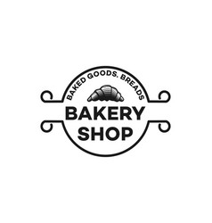 hand drawn pastries vintage bakery logo designs vector image