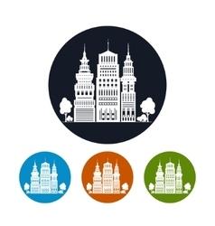 Icon Modern Big City vector image
