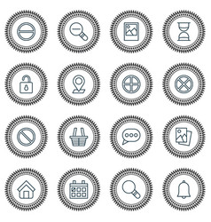 Internet icons set collection of calendar zoom vector