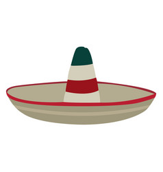 Isolated traditional hat vector