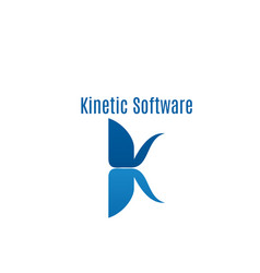 kinetic software abstract icon vector image