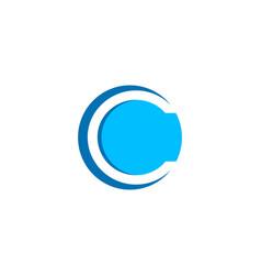 letter c negative space circle logo design vector image