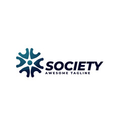 logo society gradient colorful style vector image