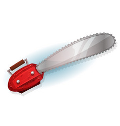Lumber chainsaw vector