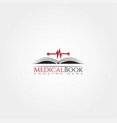 Medical book icon template creative logo design vector