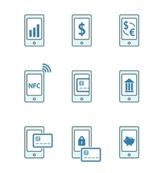 Mobile payment icons vector