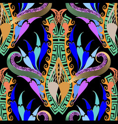 modern colorful floral paisley seamless pattern vector image