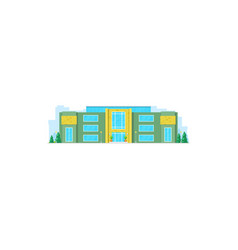 modern house real estate construction isolated vector image