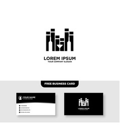 Music wine logo and business card template vector