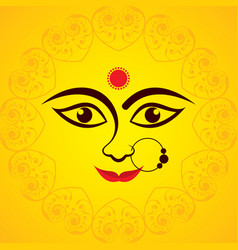 navratri utsav greeting card vector image