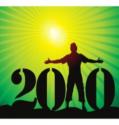 New year 2010 background vector