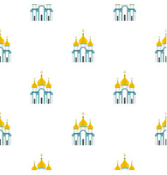 Orthodox church pattern flat vector